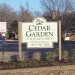 Cedar Garden Townhomes Apartment Entrance